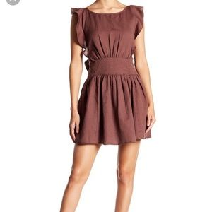 NWT free people Erin brown skater dress Small